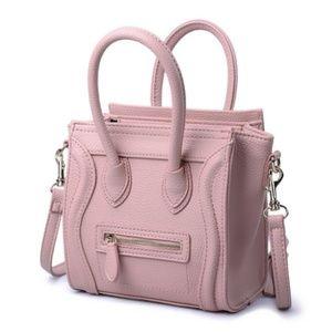 Premium Pink Pebbled Leather Micro Mini Bag NWT